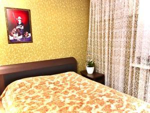 Кровать или кровати в номере Apartments on Meridiannaya Ulitsa 3 у набережной Казанки