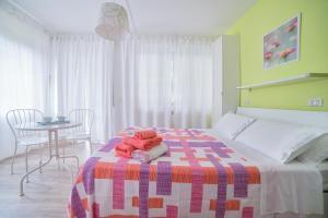 Letto o letti in una camera di B&B Villino Giovanna