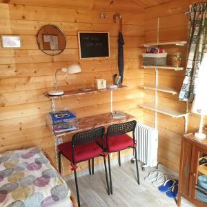 Een TV en/of entertainmentcenter bij Trekkershut op schiereiland