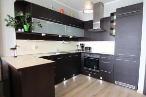 A kitchen or kitchenette at Apartamenty Świnoujście - Apartament Nad Kanalem