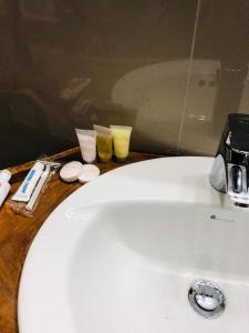 A bathroom at Castara Inn