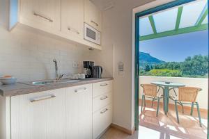 Een keuken of kitchenette bij Palatia Village Hotel Apartments