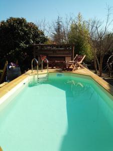Het zwembad bij of vlak bij Au Brabo