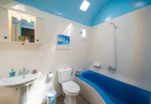 A bathroom at Casa Annaise Mykonos - Cycladic House with Jacuzzi