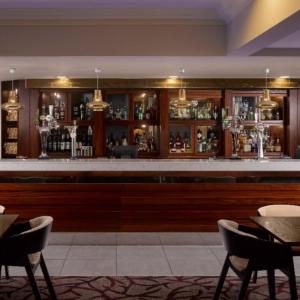 The lounge or bar area at Cambridge Belfry