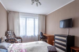 Кровать или кровати в номере Standard Brusnika standart Yaseneva