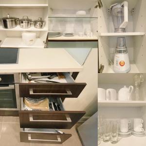 Una cocina o zona de cocina en Pacific Place Serviced Apartment