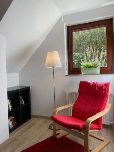 A seating area at Ferienhof Kröger