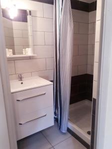 Salle de bains dans l'établissement Hotel renaissance martigues