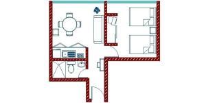 The floor plan of Apartamentos Hotel Avilla