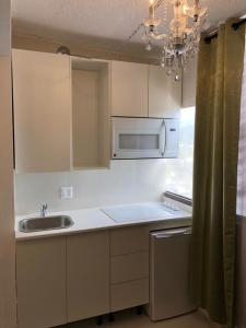 A kitchen or kitchenette at Aibonito Hotel 205