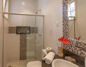 Um banheiro em Pousada Casablanca