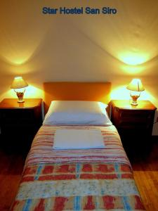 Un ou plusieurs lits dans un hébergement de l'établissement Star Hostel San Siro Fiera