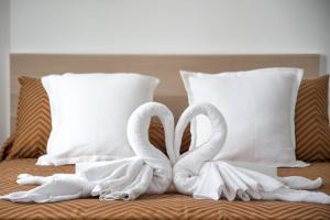 Un ou plusieurs lits dans un hébergement de l'établissement Casa Marquesa with private heated pool & sea views