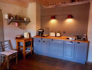 Küche/Küchenzeile in der Unterkunft Apartment Silberne Lilie