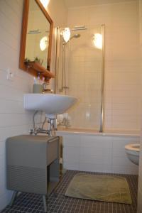 A bathroom at Malibu 10B