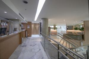 The lobby or reception area at Belo Horizonte Plaza