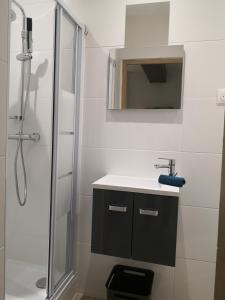 A bathroom at Le Studio du Vieux Port