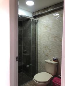 A bathroom at Playa Blanca - El Mana