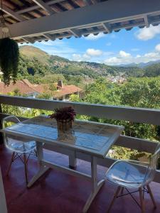 A balcony or terrace at Pousada Casa dos Poetas