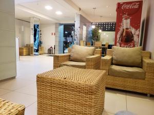 The lobby or reception area at Lagoa Park Hotel
