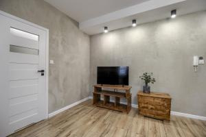 A television and/or entertainment centre at Niron Apartamenty Spacerowa