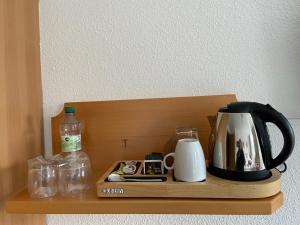 Küche/Küchenzeile in der Unterkunft Muldenschlösschen