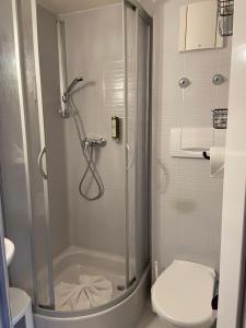 Ein Badezimmer in der Unterkunft Muldenschlösschen