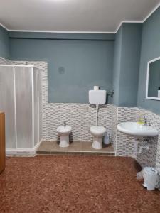 A bathroom at landlady airport orio Bergamo Ida