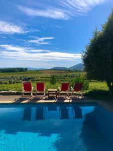 The swimming pool at or close to Casa dos Barros Winery Hotel by Vintage Theory