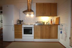 Ett kök eller pentry på Hallagärde Gård