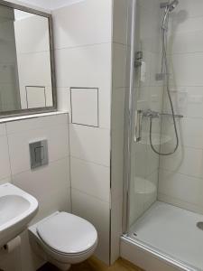 Koupelna v ubytování CENTRAL PARK FLORA