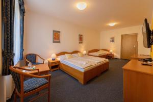 Кровать или кровати в номере Hotel U Sládka