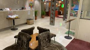 The lobby or reception area at Shiisar Inn Naha