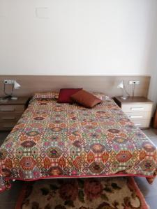 A bed or beds in a room at Casa Moderna en Fanzara, Castellón, pueblo MIAU