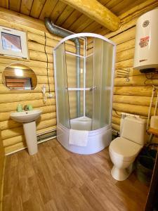 A bathroom at Guest House Otdykh na Baykale