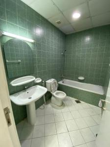 A bathroom at Dubai bed space and private room
