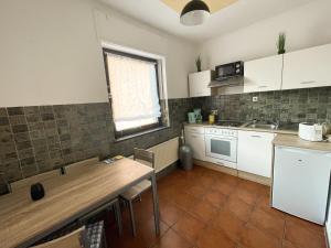 A kitchen or kitchenette at Zum Burghof