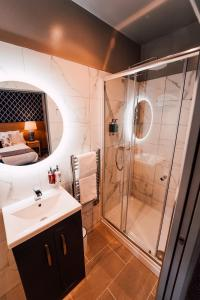 A bathroom at The Maynard
