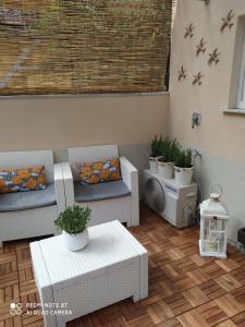 Uma área de estar em Rio Groppo Guesthouse