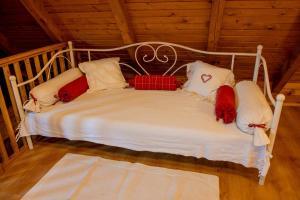 Krevet ili kreveti u jedinici u objektu Kuća za odmor Grunt