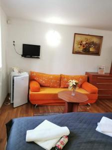 Ein Sitzbereich in der Unterkunft Ubytovanie na súkromí KIKA