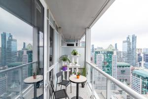 A balcony or terrace at Cloud 9 in Downtown Toronto