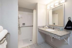 A bathroom at Best Western Coyote Point Inn