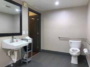 A bathroom at Skyways Hotel