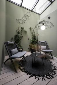 Ein Sitzbereich in der Unterkunft Altstadthotel Weißes Kreuz - In der Fußgängerzone