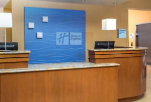 The lobby or reception area at Holiday Inn Express Hotel & Suites Virginia Beach Oceanfront, an IHG Hotel
