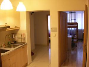 A kitchen or kitchenette at Hostel Kubik