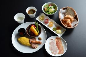 Breakfast options available to guests at Cross Hotel Sapporo