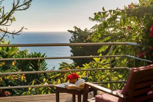 A balcony or terrace at Casa do Papagaio Verde